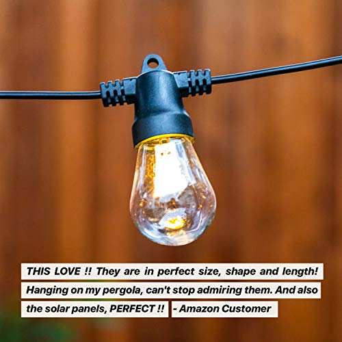 Waterproof and solar powered string lights