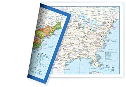 - Color My Travels Map, One Side Colored, One Side for You to Color; Two-Sided Lamination, 17.5 x 11.5 inches (1 USA Map)