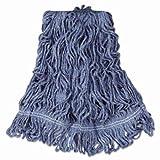 Rubbermaid Commercial Super Stitch Blend Mop Heads, Cotton/Synthetic, Blue, Large - six wet mop heads per case.