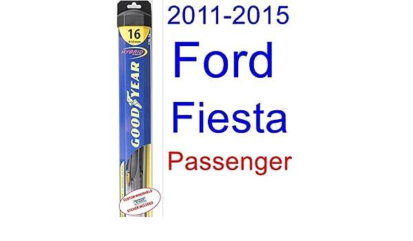 2011 - 2015 Ford Fiesta hoja de limpiaparabrisas de repuesto Set/Kit (Goodyear limpiaparabrisas blades-hybrid) (2012,2013,2014): Amazon.es: Coche y moto