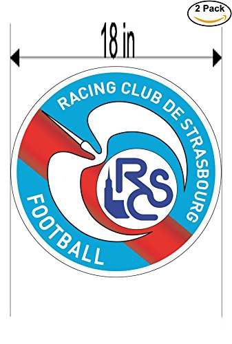 fan products of Racing Club de Strasbourg France Soccer Football Club FC 2 Stickers Car Bumper Window Sticker Decal Huge 18 inches