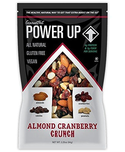 Power Up Trail Mix 100% Natural 8 Snack Bags Protein Packed, Antioxidant Mix, Almond Cranberry Crunch, Mega Omega by Gourmet Nut (Image #7)