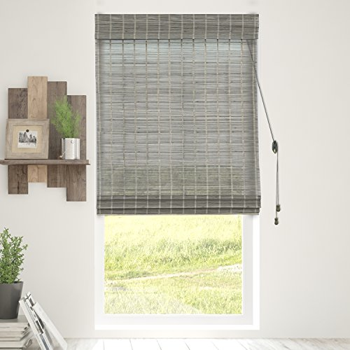 Chicology Bamboo Roman Shades / Wood Window Blind, Bamboo, Privacy - Koala, 29