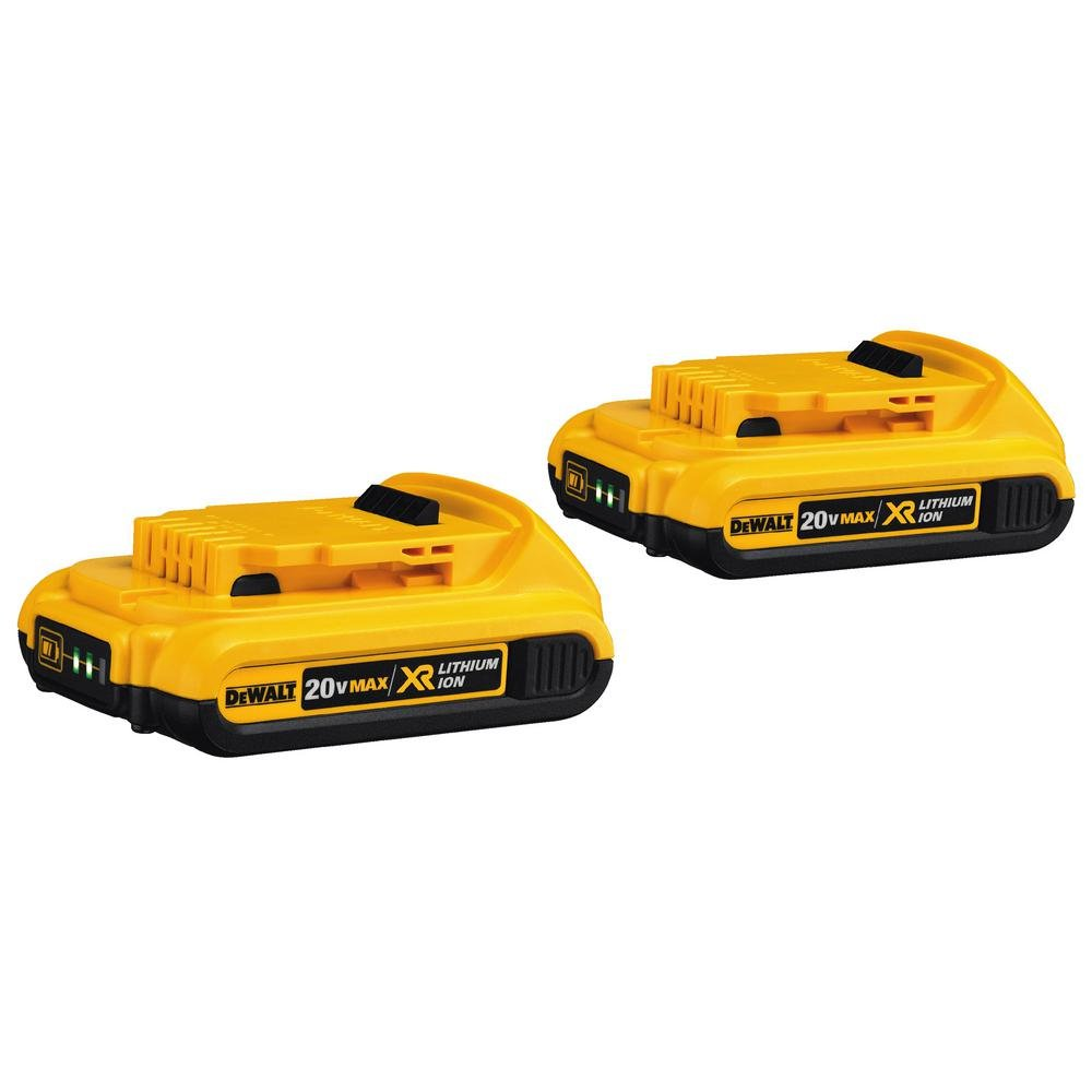 DEWALT DCB203-2 20V Max Compact XR Li-Ion Compact Battery; 2-Pack - (Renewed)