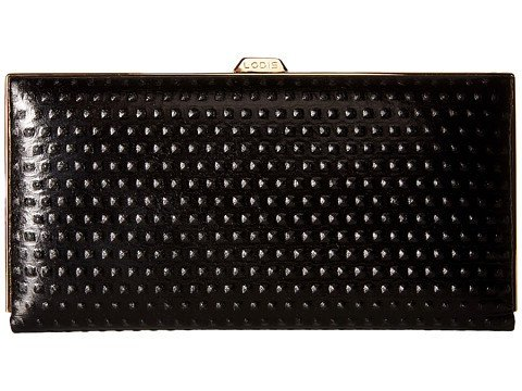 Lodis Accessories Women's Cadiz Quinn Clutch Wallet Black Wallets (Lodis Lined Wallet)