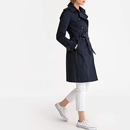 73367af99354 Image Unavailable. Image not available for. Color  La Redoute Collections  Womens Mid-Season Long Trench Coat ...