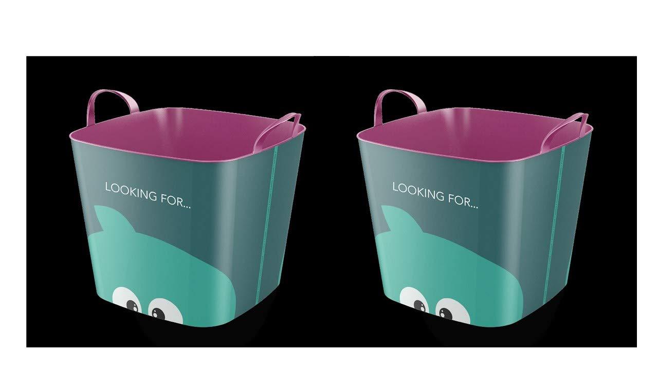 35/×35/×41 cm Contenitore di Stoccaggio o Cesti per Biancheria Life Story Cesto Organizzatore Plastica 25L Portaoggetti Bagno Cesto Portagiochi Bambini