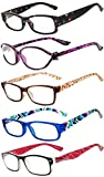 Readers 5 Pack Reading Glasses Ladies Spring Hinge 180 Days Guarantee +1.5