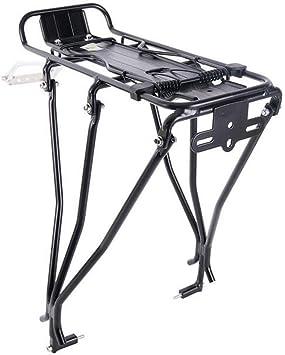 FYLY-Portaequipajes para Bicicleta, 45 Kg de Capacidad Ajustable Estante para Maletas para Bicicletas, Aleación de Aluminio Liberación Rápida Carrier Trasera para Bicicleta: Amazon.es: Deportes y aire libre