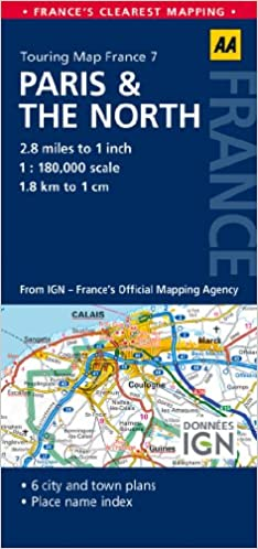 AA Road Map Paris The North AA Touring Map France Road - Paris road map