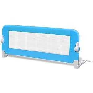 Barrières de lit pour enfants 102 x 42 cm Bleu