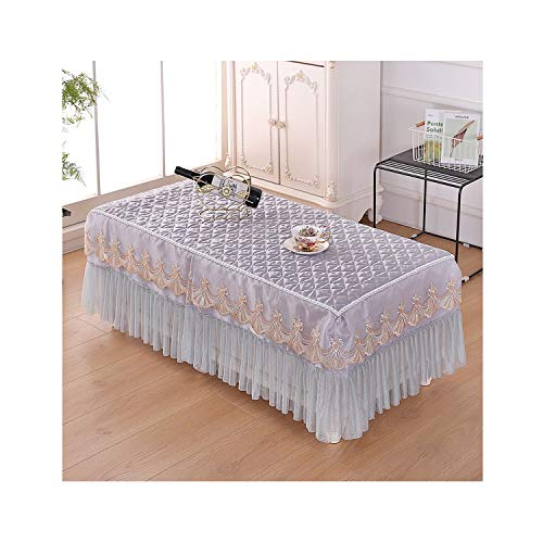 wing1 Proud Rose Lace Table Cloth Table Skirt Korean Style Coffee Desk Cover Fabric Tea Table Dust Cover Table Mat,010,60x125cm