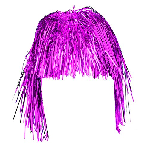 Purple Party Wigs - Tinsel Wig Many Colors - Mylar Wig Dress Up Funny Party Hats