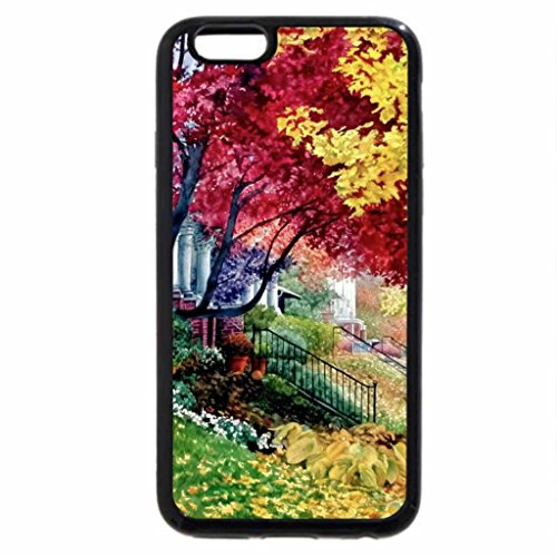 iPhone 6S Case, iPhone 6 Case (Black & White) - Autumn on Capitol Hill, Denver, Colorado