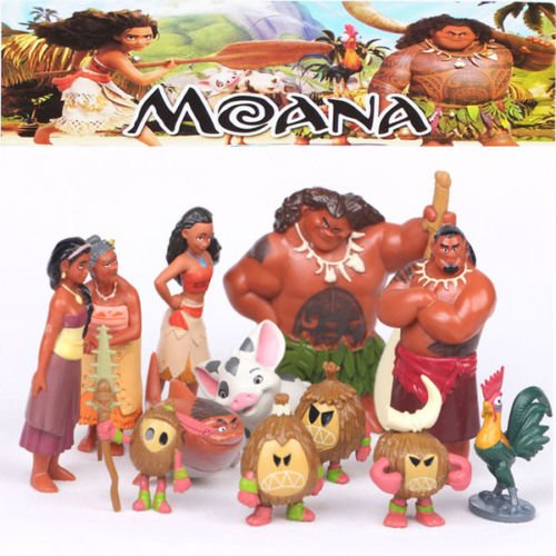 [12PCS/SET New Movie Moana Decoration Mini PVC Toys Action Figures Dolls] (Real Power Ranger Costumes)