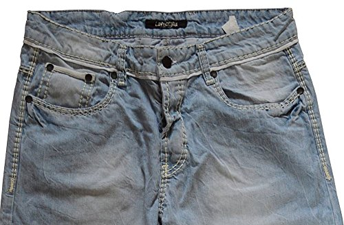 Übergrössen !!! Helle Designer Jeans LAVECCHIA 5751 kräftige weiße Ziernähte W40