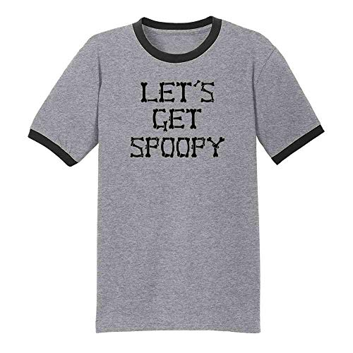Pop Threads Let's Get Spoopy Halloween Costume Funny Memes Grey/Black 2XL Ringer T-Shirt]()