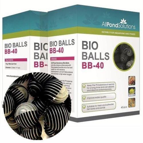 All Pond Solutions Bio Balls Fish Tank Filter Media, 40-Piece