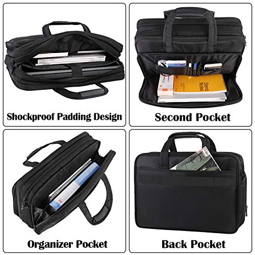 17 inch Laptop Bag, Large Business Briefcase for Men Women, Travel Laptop Case Shoulder Bag, Waterproof Carrying Case Fits 15.6 17 inch Laptop, Expandable Computer Bag for Notebook, Ultrabook by Mancro (Image #3)