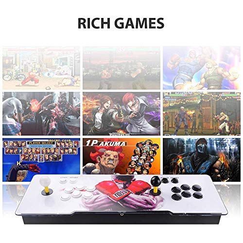 TAPDRA Pandora's Box 9 Multiplayer Joystick and Buttons Arcade Console, Cabinet Games Machines for Home, 1500 Retro Classic Video Games, Newest System with Advanced CPU, Compatible with HDMI (Grey) by TAPDRA (Image #4)