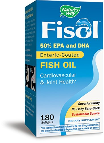 Nature's Way Fisol Fish Oil, 50% EPA/DHA, 180 Softgels