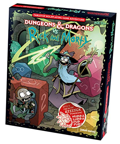 Book cover from Dungeons & Dragons vs Rick and Morty (D&D Tabletop Roleplaying Game Adventure Boxed Set) by Wizards RPG Team