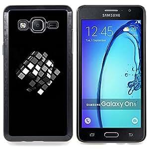Queen Pattern - FOR Samsung Galaxy On5 SM-G550FY G550 - Puzzle Game Children'S Mathematics 3D Black - Cubierta del caso de impacto con el patr???¡¯???€????€?&