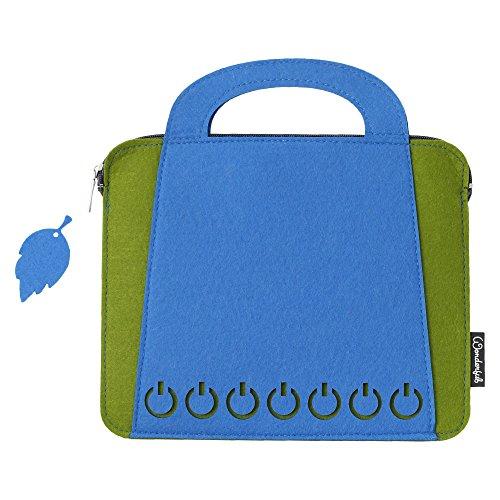 Basico Premium Felt Sleeve Case for iPad 2 / iPad 3 / iPad 4 (ipad Bag-Blue/Green)