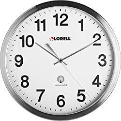 Lorell 61001 Atomic Wall Clock, 11-3/4, Chrome