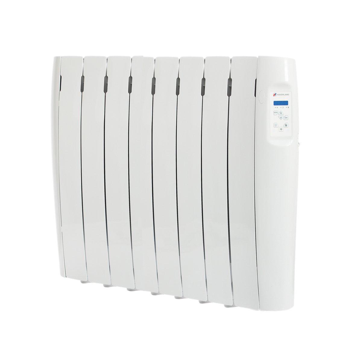 Haverland RC8M - Radiador Digital Fluido Bajo Consumo, 1000W de Potencia, 8 Elementos, Programable, Exclusivo Indicador De Consumo, Pantalla Temperatura ...