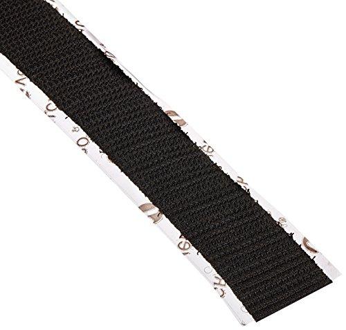 VELCRO 1003-AP-PSA/H Black Nylon Woven Fastening Tape, Hook Type, Pressure Sensitive Adhesive Back, 3/4