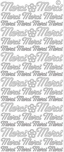 Deco stickers-silver-メルシー B008OVSSDI