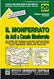 Image de Carta n. 20 Il Monferrato 1:50.000. Carta dei sentieri e dei rifugi