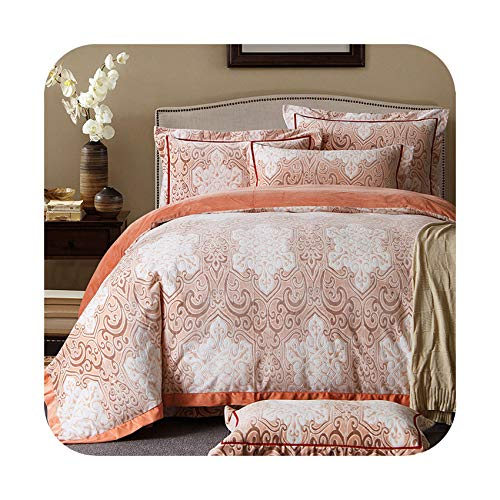 Quality Fleece Fabric Bedding Set Four Pieces Duvet Cover Bed Sheet Pillowcase for Winter Queen King Size,F4,Queen 4pcs