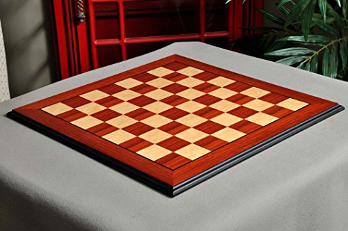 - The House of Staunton Coral Ash Root & Bird's Eye Maple Standard Traditional Chess Board - 2.5