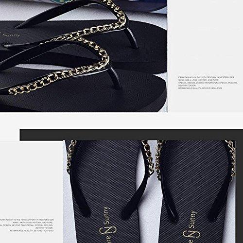 Beige Donne Moda Le Donna Pantofole Scarpe Bianco Haizhen Da Per Fresche Femminile Estiva Spiaggia Scivolose Nero Nero Marrone wqqpav1nCx