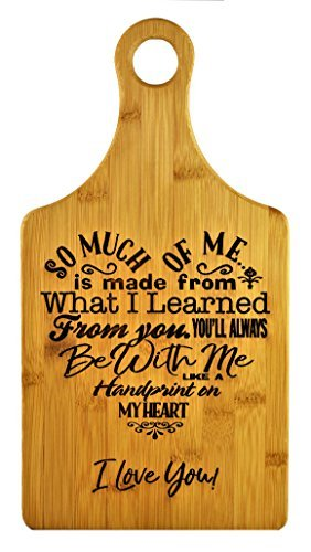 Mothers Gift – Special Love Heart Poem Bamboo Cutting Board Design Mom Gift Mothers Day Gift Mom Birthday Christmas Gift Engraved Side For Décor Hanging Reverse Side For Usage (7x13.5 ()