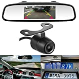 LeeKooLuu HD Color CCD Rear View Backup Camera and 4.3 mirror Monitor Kit for Car/Vehicle/Truck/Van 170°Viewing Angle Waterproof (butterfly2)