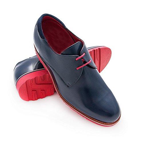 Zerimar Chaussures Réhaussantes Intérieur Pour Messieurs Augmentation + 7cm Cuir, Respirant, Confortable