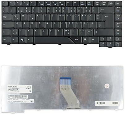 ways2talk NSK-AKA0G - Teclado para ordenador portátil Acer Aspire 5930 5930G (teclado alemán), color negro
