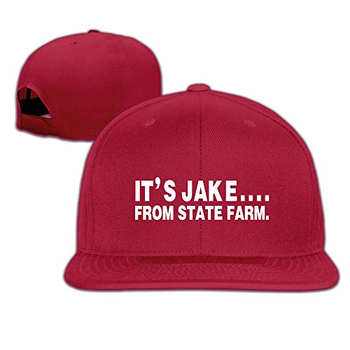 its-jake-from-state-farm-funny-fitted-flat-brim-snapback-cap