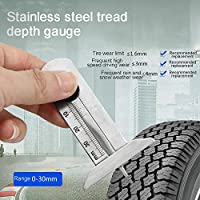 SUJING Portable Tire Tread Depth Gauge Stainles Steel Inspection Tire Safety Tire Ruler