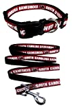Pets First South Carolina Gamecocks Nylon Collar and Matching Nylon Leash for Pets (NCAA Official by Size Medium