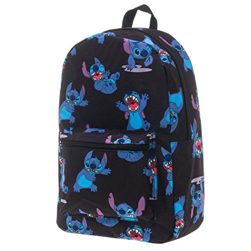 Disney Lilo And Stitch Sublimated Backpack (Black Stitch) (Disney Clothing For Adults)
