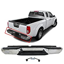 MBI AUTO - Steel Chrome, Complete Rear Bumper Assembly for 2005-2016 Nissan Frontier, NI1103114