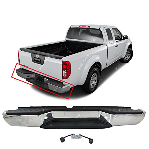 Nissan Chrome Bumper - MBI AUTO - Steel Chrome, Complete Rear Bumper Assembly for 2005-2016 Nissan Frontier, NI1103114