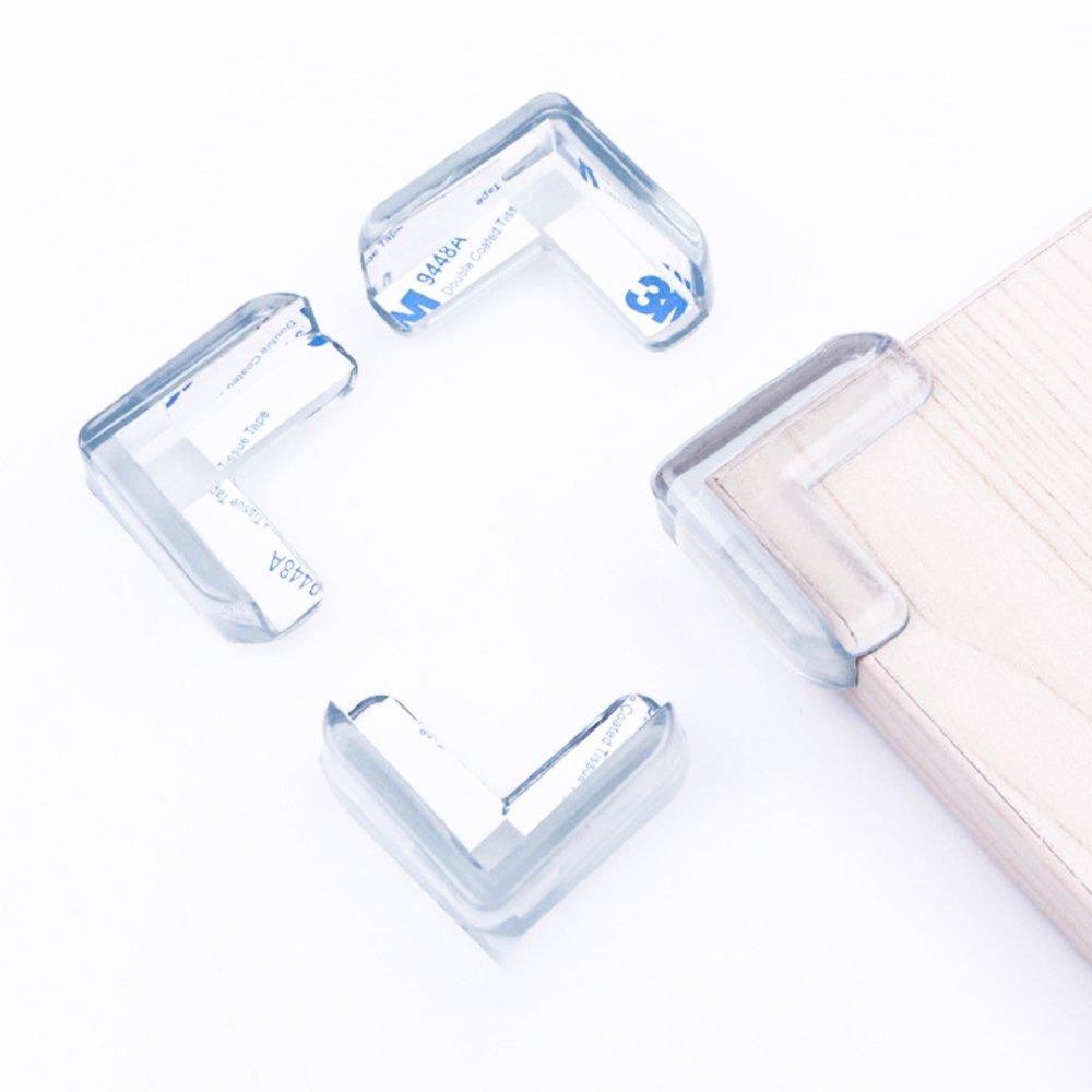 Allright 20er Pack Eckenschutz Tischkantenschutz f/ür M/öbel oder Kantenschutz f/ür Tische Safety Corner Eckschutz Glastisch Kinder Kantenschutz mit 3M Kleber