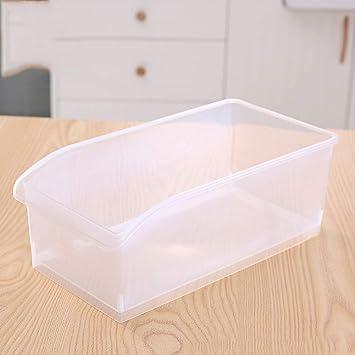 Organizador de frutas de plástico para frigorífico, bandejas de frigorífico, cajas de almacenamiento para el congelador Tamaño libre blanco: Amazon.es: ...
