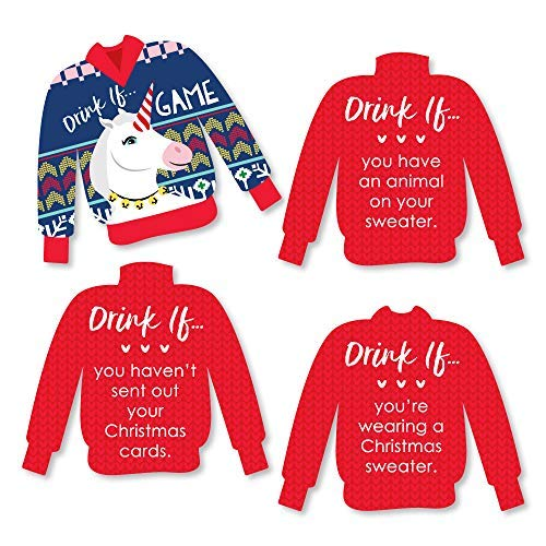(Drink If Game - Wild and Ugly Sweater Party - Holiday and Christmas Animals Party Game - 24)