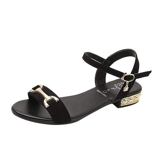 T-shao Zapatos De Oficina para Mujer Sandalias con Cuña Hebilla ...
